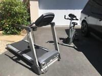 Home gym setup package weights, bike and treadmill