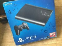 PS3 super slim with 4 games in the box 160GB