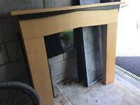 Fire surround, back piece and hearth