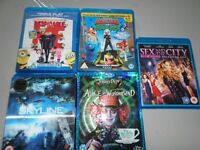 Selection of Blue ray DVD'S