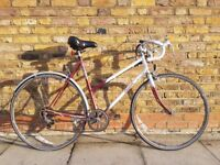 **VINTAGE RALEIGH CASCADE** WOMEN'S ROAD & TOURING BIKE, 5-SPEED, 56CM FRAME, BROOKS SADDLE