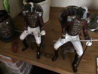 2 Character dog ornaments