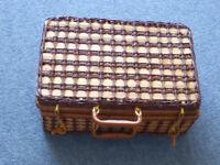 Small wicker picnic hamper or case