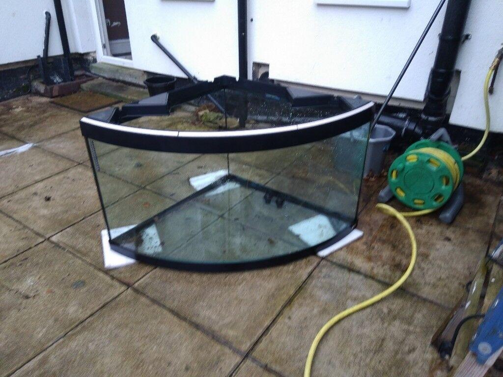 Fluval Fish Tank Aquarium Corner 350L