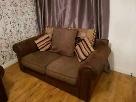2 x 2 fabric scatter back sofas
