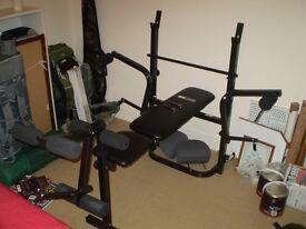 Weights bench, weights