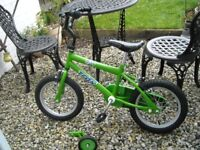 Trax T14 bike with 14 inch wheels from Halfords - Hardly used and in 'as new' condition.