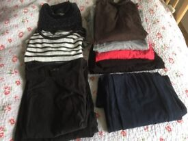 Maternity clothes (tops and jeans)