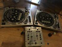 2 x KAM DDX700 Turntables and Numark DM1001X Mixer