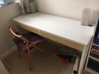 Office desk and bookcase