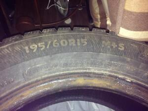 Four winter tires: 195/60R15
