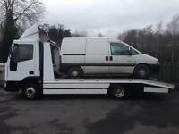 Scrap Cars and vans collected and disposed of.