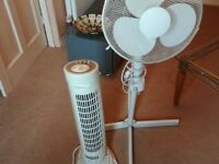 2 FANS TOWER AND PEDESTAL GREAT CONDITION NO OFFERS