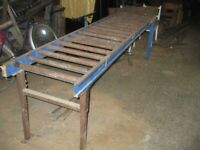 two lengths of 3000mm x 600mm wide roller track system