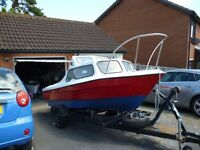 17 foot dejon cabin cruser and trailer price reduced by£ 400-00