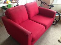 FREE RED TWO SEATER SOFA