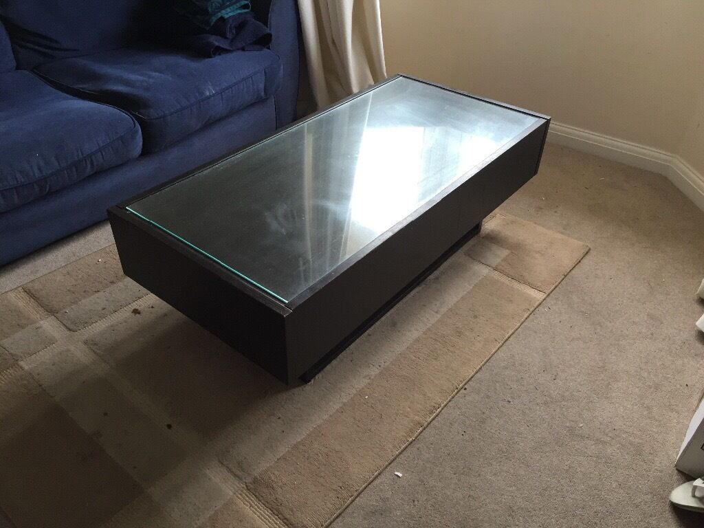 Black hemnes ikea coffee table glass top in twickenham for Ikea glass table tops