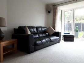 Leather Sofa Armchair Footstool