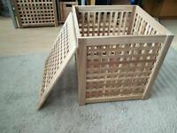 2 x Ikea wooden pine storage box
