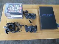 Sony PS2 console with 2 controllers and 9 Games bundle - excellent condition