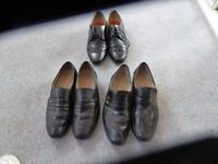 Mens leather black shoes,size 81/2. 3 pairs.Hardly worn