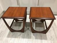 Vintage Retro mid century G Plan teak/afromosia Pair of side or Bedside tables - Delivery Available