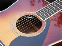 Yamaha (Japan) LL6SB Guitar with Pre-amp Electro Acoustic