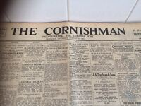 1967 & 1970 newspapers. The Cornishman