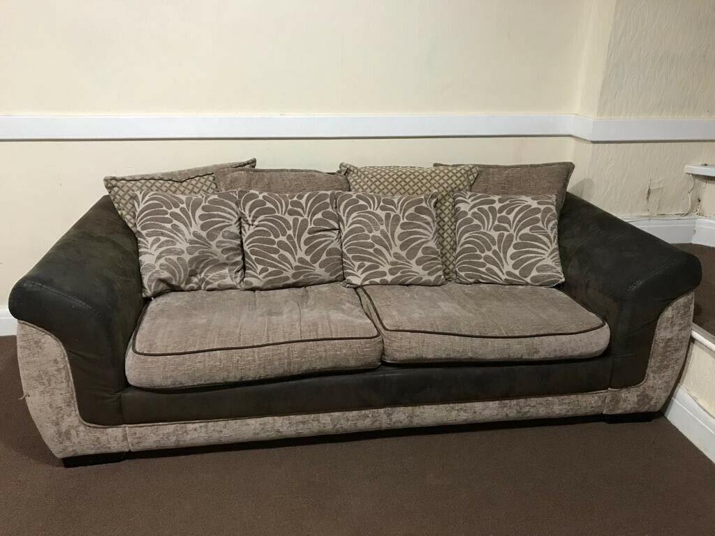 2f2e44cdb359 3 seater Sofa Bed + 1 seater sofa chair---Urgent Sale | in Redbridge ...
