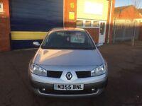 2005 Renault Megane 1.6 5 door 12 months mot/3 months warranty