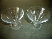 2 Italian glass sundae dishes. £1 for both.
