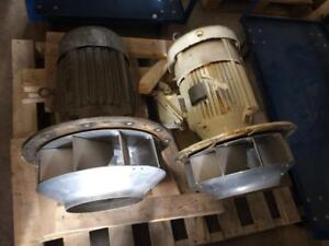 Moteur électrique 10HP, 575V, 3485rpm avec ventilateur - 10HP electric motor, 575V, 3485 RPM with blower