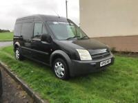 2005 black ford transit connect lwb van 1.8 tdci 145k electric windows air con
