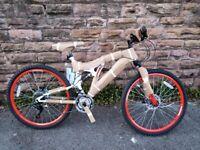 New Boss Ice White Full Suspension Double Disc Mountain Bike 2021 RRP-£295