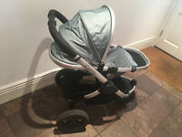 iCandy Peach Jogger (Rare All Terrain) Buggy + Bassinet + Maxicosi Adaptors -ready for a new baby!!!
