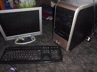 packard bell computer and tower and keyboard [windows 7]