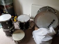 5 piece drum kit/Bag of stands/pedals etc. (Spares/repairs/project)