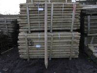 Timber fence post 75mm-100mmx2.4m