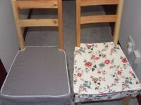 Ikea 4 x Reversible Cushion Seat Covers