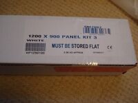 90mm shower riser kit brand new boxed with waste
