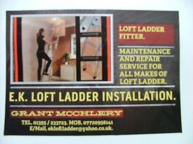 ARE YOU LOOKING TO HAVE A LOFT LADDER FITTED ?.