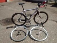 Scott Speedster S60 converted time-trial bike 56cm Carbon Wheels