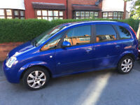 VAUXHALL MERIVA 5 DOOR BLUE AUTOMATIC 1.6 PETROL - FOR SPARES OR REPAIRS