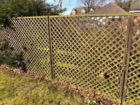 Trellis Fence Panels x 8