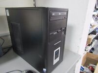 PC COMPUTER SET CPU, MONITOR, KEYBOARD AND MOUSE