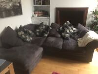 Corner sofa with cushion back. Free but must collect this week