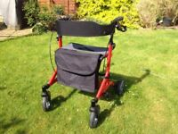 Komfi-Rider Zoom Rollator walking aid with seat and bag - like new