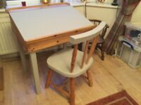 Kids wooden desk and chair for sale