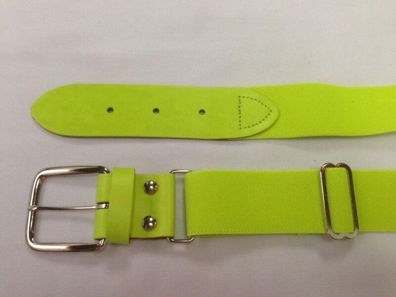 Youth Boys Girls 1 1/2 Neon Yellow Elastic Baseball Softball Belt Adjustable New