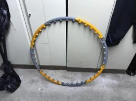 Weighted hula hoop